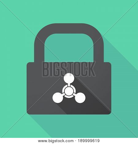Long Shadow Pad With A Chemical Weapon Sign
