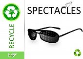 Please recycle spectacles poster