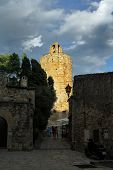 Tower of Pals Girona Costa Brava Catalonia Spain poster