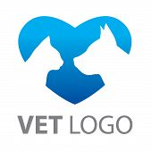 Template for a service mark of veterinary care. poster