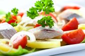 Herring salad with vegetables poster