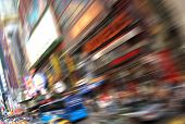 Abstract of busy New York near Times Square poster