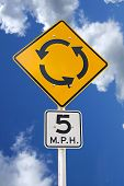 Bright yellow sign for people who feel like they are going in circles - humorus. poster