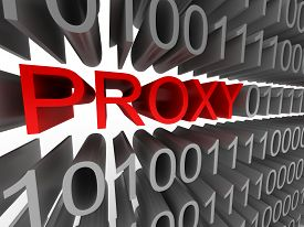 Proxy in the form of binary code isolated on white background. High quality 3d render.