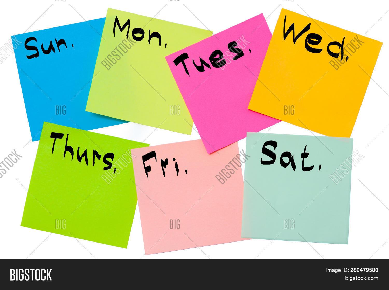 Plan Week On Stickers Image & Photo (Free Trial) | Bigstock