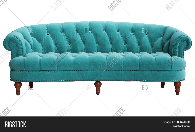 Classic Tufted Sofa Image Photo Free Trial Bigstock