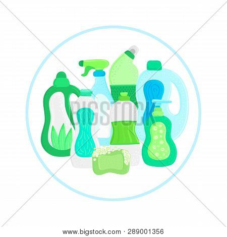 Eco Friendly Household Cleaning Supplies. Natural Detergents. Products For House Washing. Non Chemic