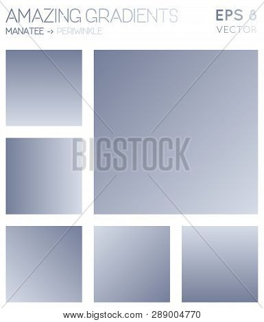 Colorful Gradients In Manatee, Periwinkle Color Tones. Actual Background, Great Vector Illustration.