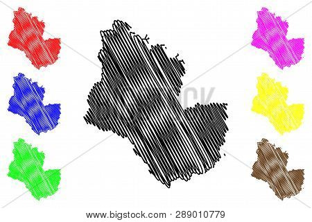 Sakon Nakhon Province (kingdom Of Thailand, Siam, Provinces Of Thailand) Map Vector Illustration, Sc