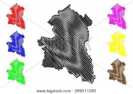 Sing Buri Province (kingdom Of Thailand, Siam, Provinces Of Thailand) Map Vector Illustration, Scrib