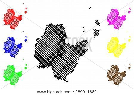 Surat Thani Province (kingdom Of Thailand, Siam, Provinces Of Thailand) Map Vector Illustration, Scr