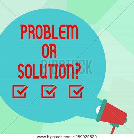Conceptual Hand Writing Showing Problem Or Solutionquestion. Business Photo Text Think Solve Analysi