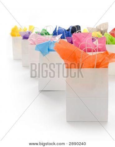 vertikale Einkaufstaschen