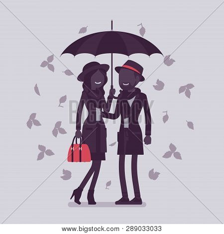 Couple Umbrella Vector Photo Free Trial Bigstock