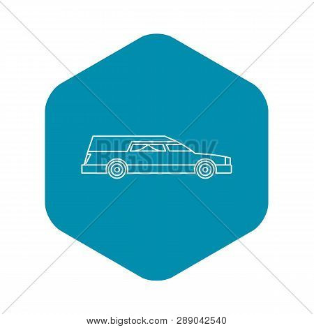 Hearse Icon. Outline Illustration Of Hearse Vector Icon For Web