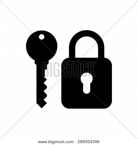 Lock And Key Icon Isolated On White Background. Lock And Key Icon Simple Sign. Lock And Key Icon Tre