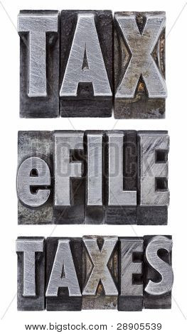 E-file Taxes - Tax Concept