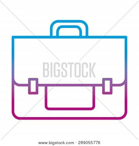 Degraded Line Business Briefcase Object To Save Document Vector Illustration
