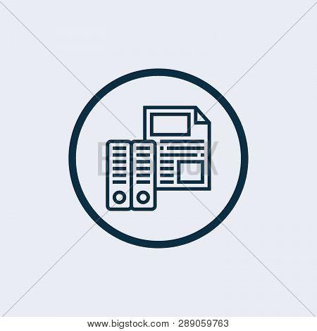 Documents Icon Isolated On White Background. Documents Icon Simple Sign. Documents Icon Trendy And M