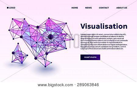 Triangular Point Visualisation Banner. Isometric Illustration Of Triangular Point Visualisation Bann