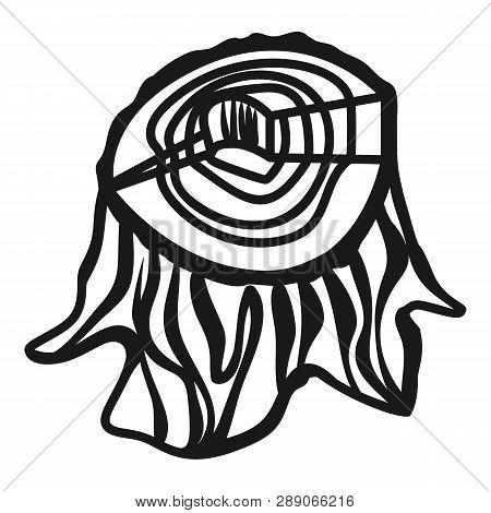 Stump Icon. Simple Illustration Of Stump Icon For Web Design Isolated On White Background