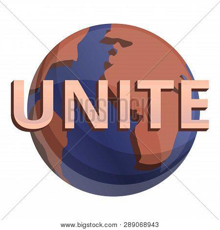 Global Unite Icon. Cartoon Of Global Unite Icon For Web Design Isolated On White Background