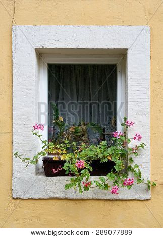 Window Of A House In The Resort Rathen In The Elbe Sandstone Mountains