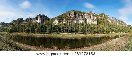The Resort Rathen In The Elbe Sandstone Mountains In The Saxon Switzerland