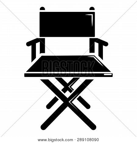 Director Chair Icon. Simple Illustration Of Director Chair Icon For Web