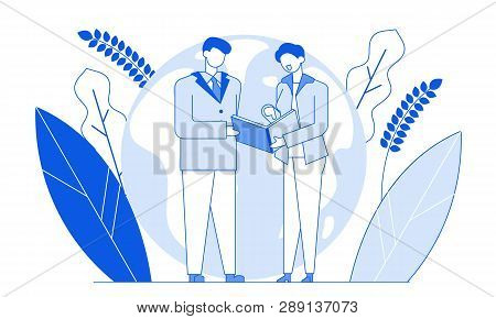 Modern Cartoon Flat Characters Line Geometric People Talking, Thin Contour Style Illustration.outlin