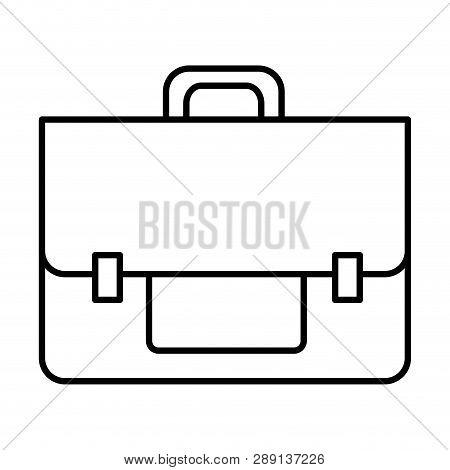 Line Business Briefcase Object To Save Document Vector Illustration