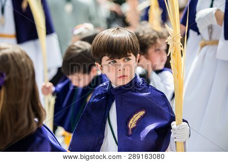 Caceres, Extremadura, Spain - April 09, 2017: The Royal And Most Fervent Brotherhood Of Penitents, A