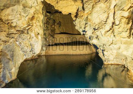 Cave Lake Nature Background. Amazing Cave Lake Nature. Nature Background. Nature Perfection. Cave La