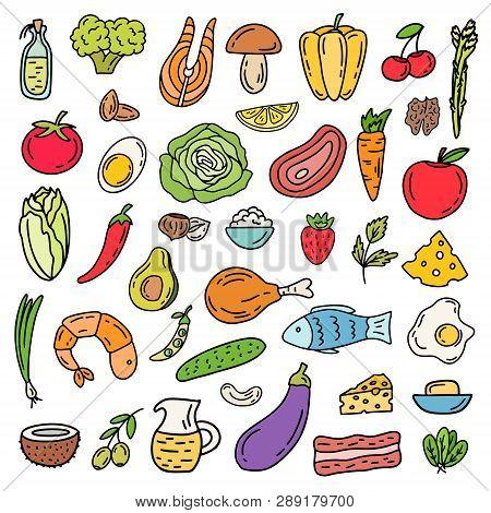 Ketogenic Diet Icon Set