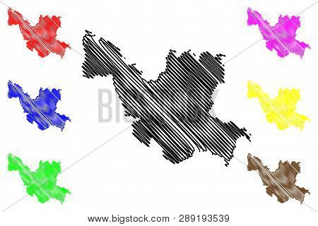 Udon Thani Province (kingdom Of Thailand, Siam, Provinces Of Thailand) Map Vector Illustration, Scri