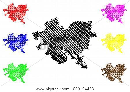 Pittsburgh City (united States Cities, United States Of America, Usa City) Map Vector Illustration,