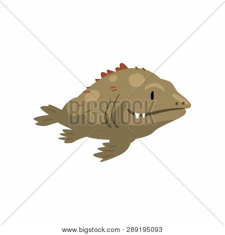Prehistoric Fish, Biology Evolution Stage, Evolutionary Gradual Development Vector Illustration