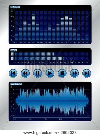 Blue Digital Sound Mixer