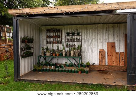 Natal Midlands, South Africa - March 11 2019: A Small Plant Nursery In The Natal Midlands.