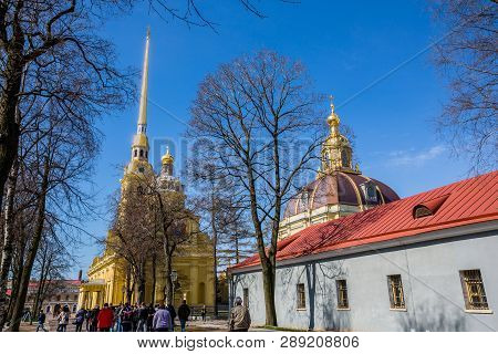Saint Petersburg, Russia - April 27: Peter And Paul Cathedral, 18th-century Romanov Dynasty Burial S