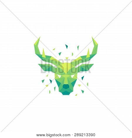 Deer Polygon Concept Illustration Vector Design Template. Suitable For Creative Industry, Multimedia