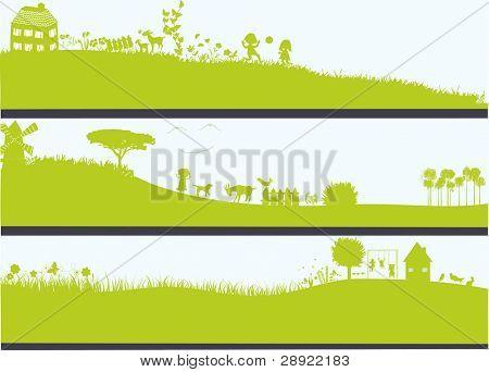 three landscapes
