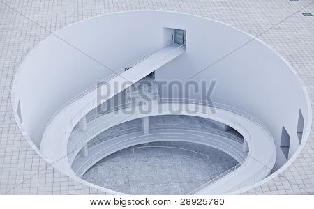 Abstract architecture based on circle and spiral shape