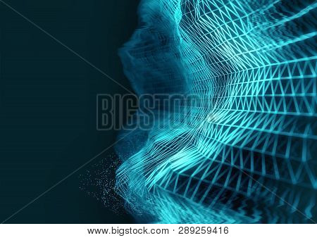A Futurisitc Technology Grid Background For Subjects Such As Cloud Computing And Cryptocurrencies. 3