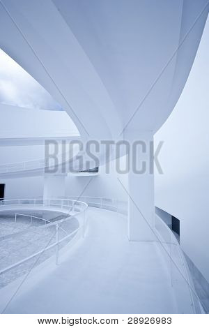 Curves and windows in an abstract interior.