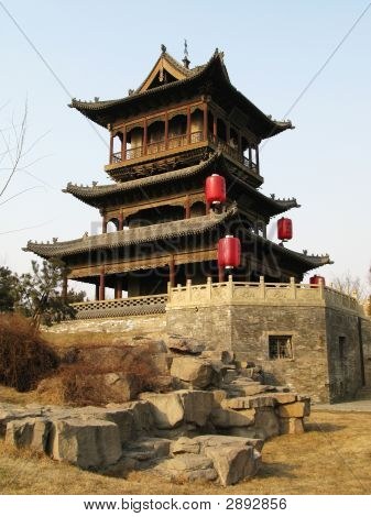 Gate Tower In Chinese Town