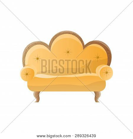 Groovy Yellow Retro Sofa Vector Photo Free Trial Bigstock Ocoug Best Dining Table And Chair Ideas Images Ocougorg