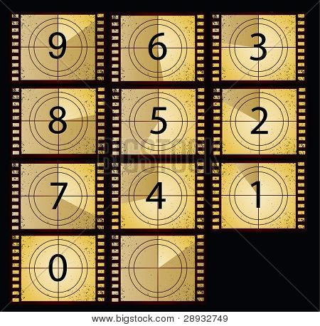 film countdown in yellow color beauty style
