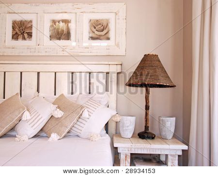 Bedroom in soft light and color
