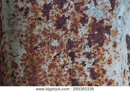 Brown Gray Metal Background From Old Rusty Iron Wall